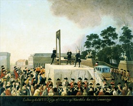 Execution by guillotine of Louis XVI of France, 21 January 1793