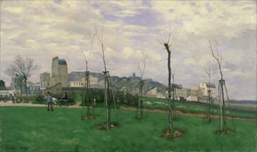 Sisley, Vue de Montmartre depuis la Cité des Fleurs aux Batignolles
