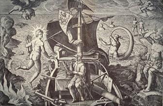 Ferdinand Magellan on his ship 'Victoria'