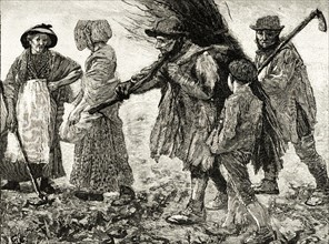 Group of agricultural labourers at the time of the passing of the first Reform Act in 1832