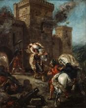 Delacroix, Rebecca enlevée par le Templier