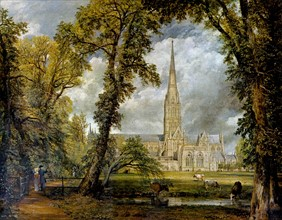 Constable, View of Salisbury Cathedral from the Bishop's Grounds