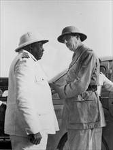 Félix Eboué et Charles de Gaulle au Tchad