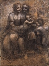 """Da Vinci, """"The Virgin and Child with St Anne and St John the Baptist"""""""