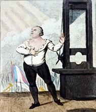 Cruikshank, Le martyre de Louis XVI