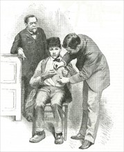 Boy being examinated by Louis Pasteur