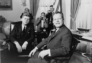 President John F Kennedy and  Willy Brandt