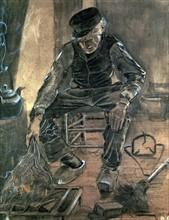 Van Gogh, Paysan assis auprès du feu