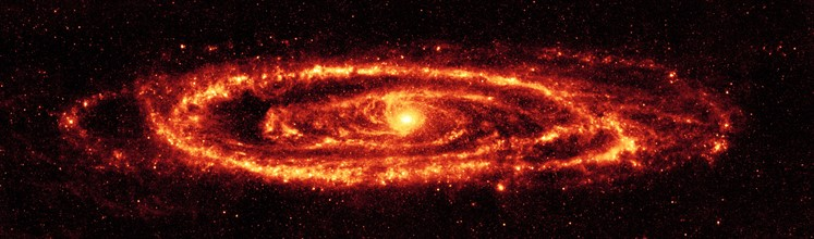 NASA's Spitzer Space Telescope infrared view of the famous galaxy Messier 31, also known as Andromeda