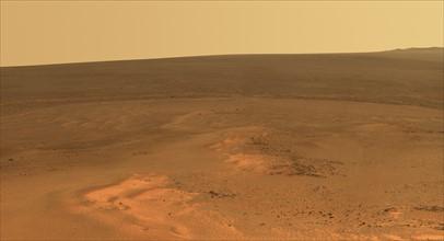 Windswept vista northward on Mars