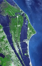 Satellite view of the JFK Space Center
