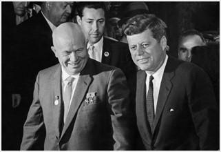 The Vienna summit 1961, between President John F. Kennedy and Nikita Khrushchev.