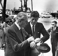 British Prime Minister Harold Macmillan with US President John F. Kennedy 1961