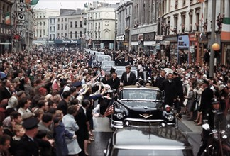 John Kennedy; Trip to Europe: Motorcade in Dublin, Ireland