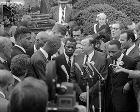 Photograph of Civil Rights leaders meeting with President John F. Kennedy