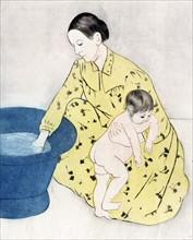 Cassatt, The bath