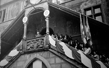 General Charles de Gaulle at the liberation of Mulhouse