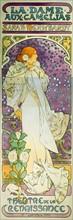 La dame aux camelias, Sarah Bernhardt Theatre de la Renaissance by Alphonse Mucha
