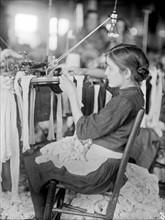sweatshop worker in the Cherokee Hosiery Mill; Rome; Georgia; USA 1913