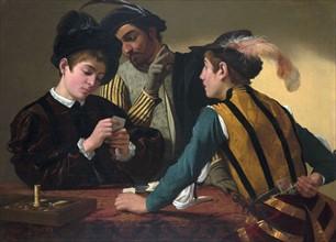 The Cardsharps' c. 1595 by Caravaggio