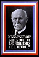 Affiche à la gloire du Maréchal Pétain (1856-1951)