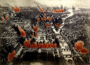 Paris on fire, 1871