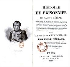 """Page de garde de """"Le prisonnier de Sainte-Hélène"""", (Napoléon 1er)"""