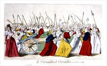 Marche des femmes sur Versailles