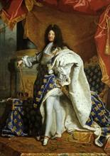 Rigaud, Portrait de Louis XIV en costume de sacre