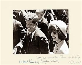 John et Jackie Kennedy - photo dédicacée