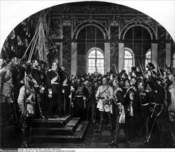Werner, Guillaume 1er proclamé empereur dans la Galerie des Glaces, à Versailles, 1871