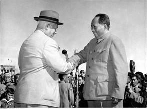 Khrouchtchev et Mao Tse-Toung