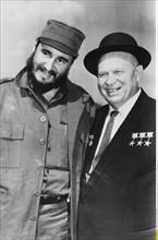 Fidel Castro et Nikita Khrouchtchev, 1963