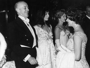 Alec Guinness, Juliette Gréco et la Princesse Margaret
