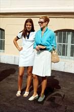 Les princesses Grace et Caroline de Monaco, 1970