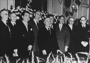 Conférence regroupant les membres de la CECA, 11 août 1952