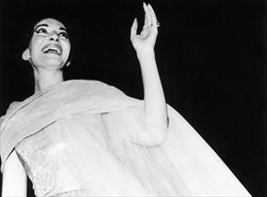 Maria Callas lors d'un récital en mai 1959