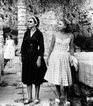 Maria Callas et Tina Onassis en juin 1959