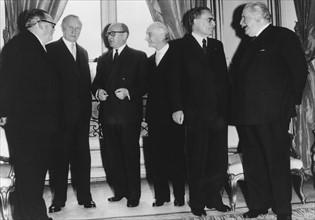 Conférence à Paris à propos du projet de marché commun et de l'Euratom, 19 février 1957