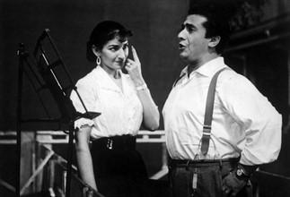 Maria Callas et le ténor Giuseppe Di Stefano, vers 1954