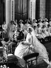 Mariage de Rainier III et Grace Kelly en avril 1956