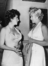 Gina Lollobrigida et Marilyn Monroe