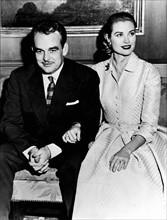 Grace Kelly et Rainier III en 1956