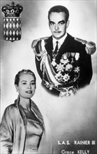 Grace Kelly et Rainier III de Monaco en 1956