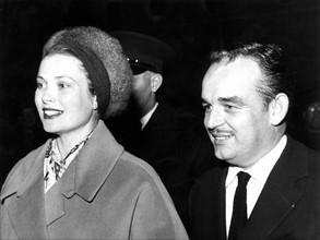 Grace Kelly et Rainier III en 1957