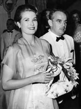 Grace Kelly et Rainier III en 1958