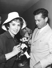 Gina Lollobrigida et Milko Skofic en 1960