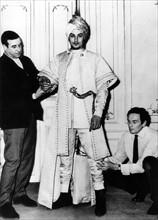 Pierre Cardin et Alain Delon, 1961