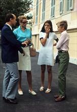 Grace Kelly avec Caroline et Albert, en 1970