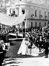 Mariage de Rainier III de Monaco et Grace Kelly en 1956